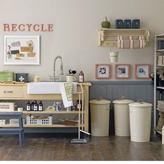practical, organized utility/laundry room