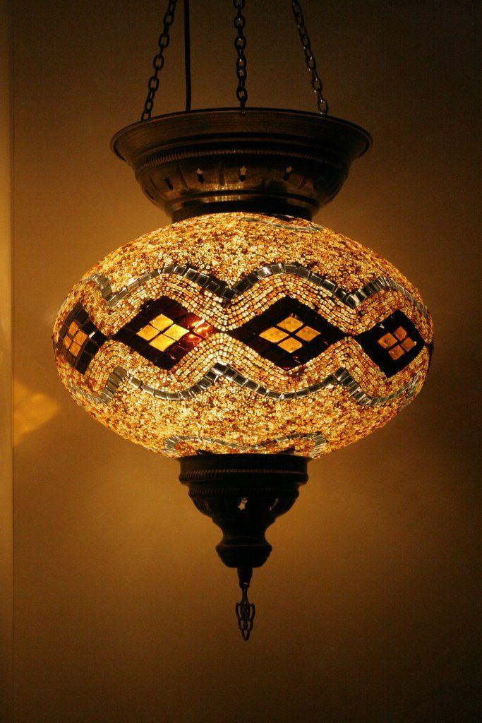 Amber Diamond XXLarge Turkish Mosaic Lamp Shade – Bohomio