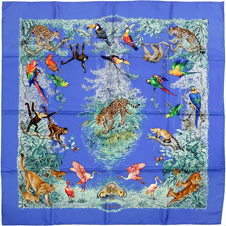 9c4d3083e688 ... low price hermes paris equateur silk scarf carre by robert dallet b3e41  787a4 ...