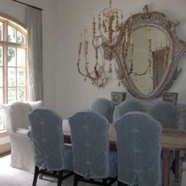 Ephemeral Blue Covers I Arteriors And Lisa Luby Ryan Via Tginteriorsblogs Velvet ChairsBlue ChairsRed VelvetDining Room
