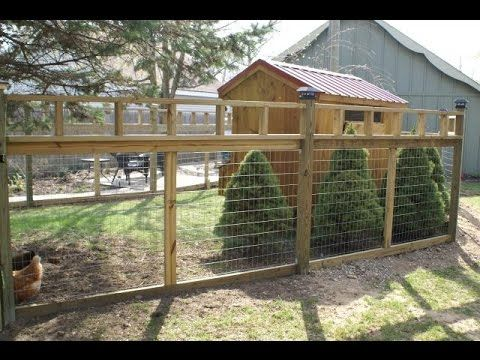 17 best ideas about chicken fence on pinterest chicken for Chicken enclosure ideas