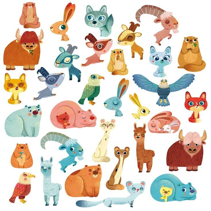 1000 ideas about cute cartoon animals on pinterest cute. Black Bedroom Furniture Sets. Home Design Ideas