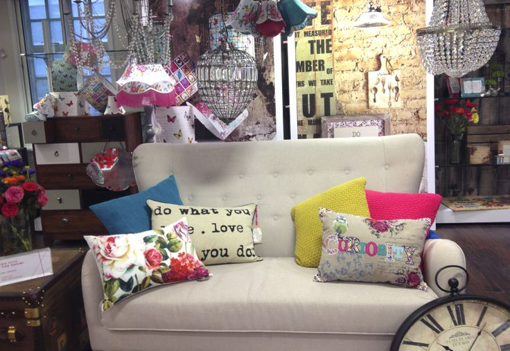 Bhs Home Ss14 Press Show Sofa Cushions Clock Floral Lighting Visual Merchandising