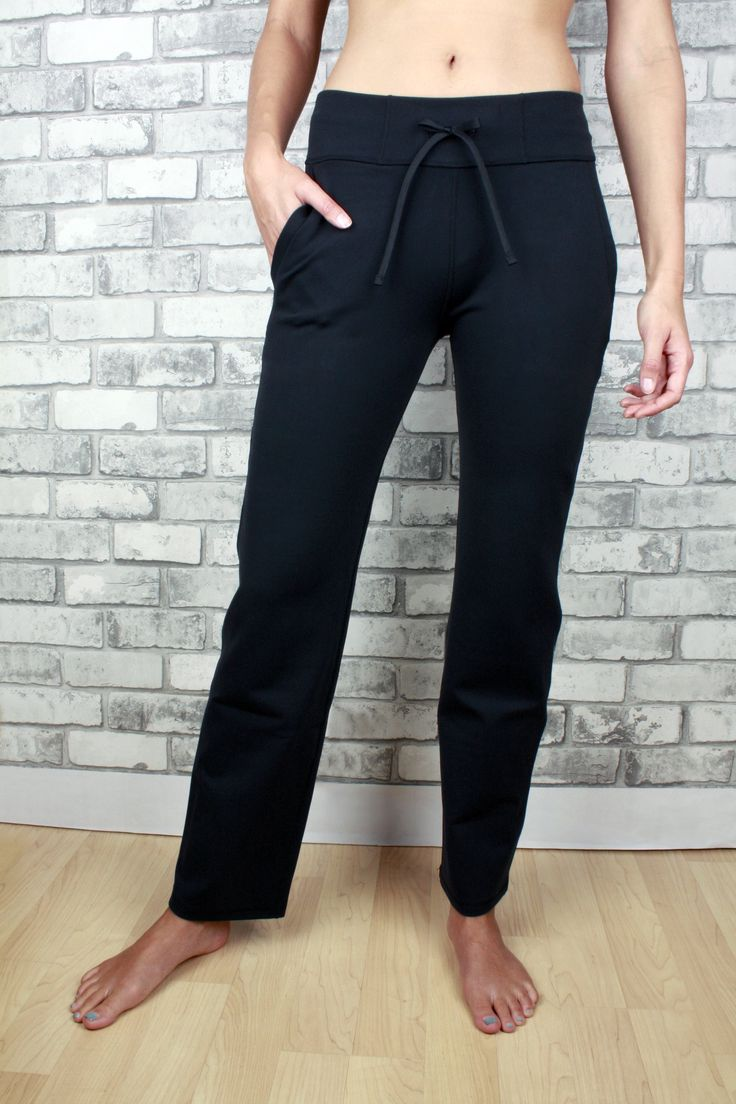Scarlett stretchy pants with two pockets and drawstring - petite length
