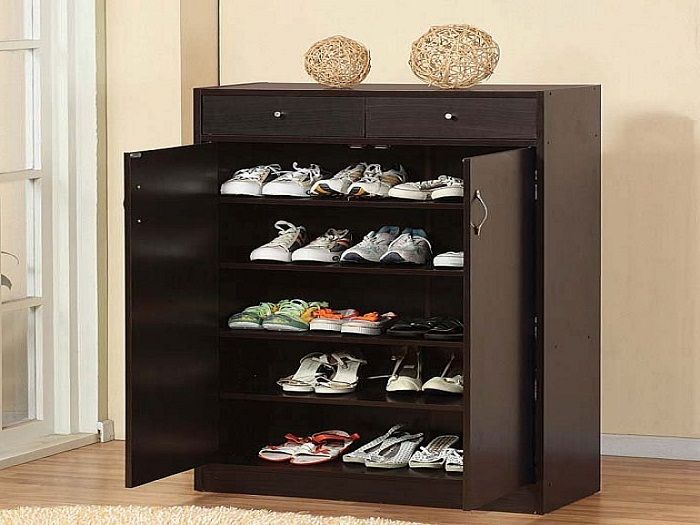 5 Shelf Wooden Shoe Cabinet With Doors ~ http://lanewstalk.com/brilliant-shoe-storage-cabinet-ideas/;