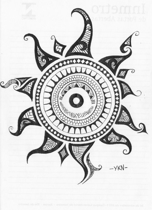 This is along the lines of what I'm thinking for a tattoo, with an eye inside of a sun hmm....