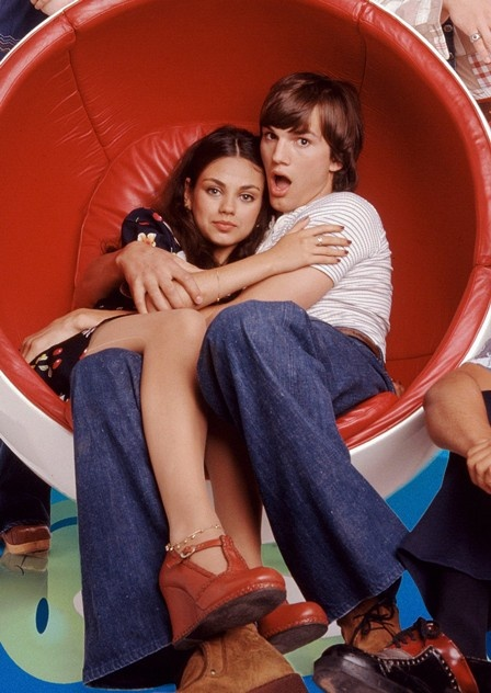 Ashton Kutcher and Mila Kunis Meet Up on the Set of 'Two and a Half Men'