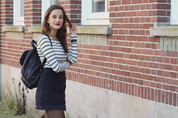 Fashiable, outfit, fashion blogger, Amsterdam, Zara striped top, Topshop skirt