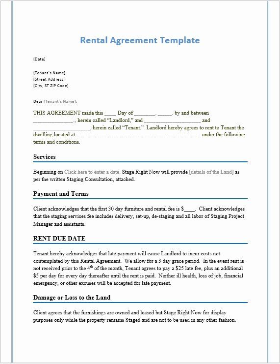 Rental Agreement Template Word Elegant Rental Agreement Template Word Templates For Free Download Rental Agreement Templates Contract Template Word Template