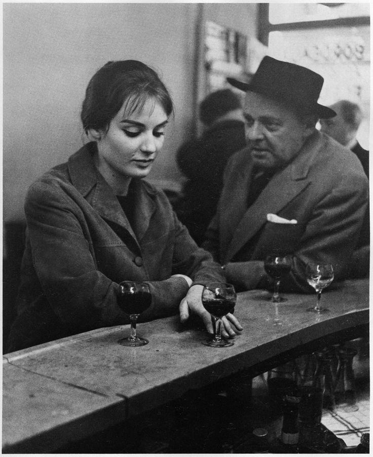 Robert DOISNEAU :: At the Café, Chez Fraysse. Rue de Seine, Paris, 1958