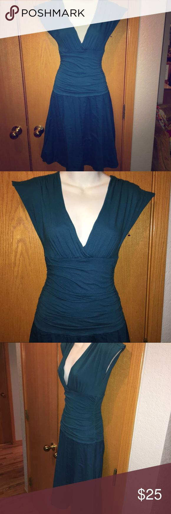 "Velvet by Graham & Spencer Fit & Flare Dress Velvet by Graham & Spencer Fit & Flare Dress Size: Small Color: Teal  Material: 100% Cotton  Bust: 15.5"" Waist: 10"" Length: 49"" Details:  Good preowned condition. No rips, holes, tears or stains Velvet by Graham & Spencer Dresses"