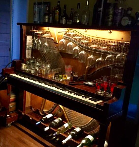 Diy Home Bar: Maurice's Piano Bar -Upcycle Extraordinaire!