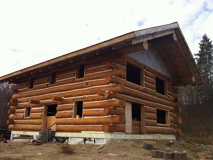 17 best images about log house on pinterest diy log for How to build a butt and pass log cabin