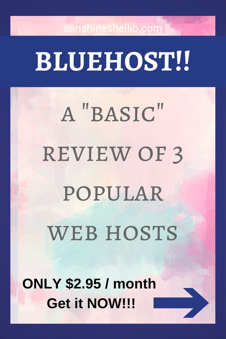 "A ""basic"" review of 3 popular web hosts. You need to be self hosted to monetize your blog. #webhost #bluehost #siteground #hostgator #selfhosted #webhosting #sitehost #blogging"