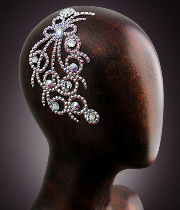 Verona Rhinestone Hairpiece CX122 Crystal AB   Dancesport Fashion @ DanceShopper.com