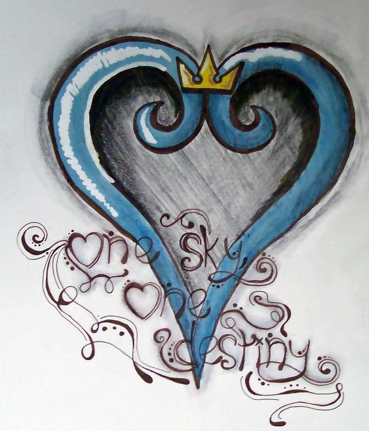 49 best ideas about kingdom hearts tattoos on pinterest for Gilded heart tattoo