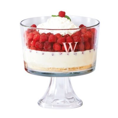 Personalized Trifle Dessert Bowl makes a thoughtful, elegant hostess gift!: Gifts Lists, Elegant Hostess, Holidays Gifts, Trifles Desserts, Personal Trifles, Hostess Gifts, Desserts Bowls, Trifle Desserts, Bridal Showers