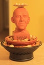Obama fountain made from Obama Chia Pet