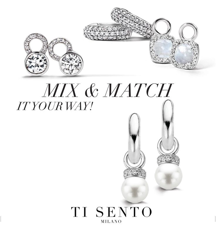 Charmed! Jewellery can be combined in many inspirational ways. Ti Sento gives you a personal touch in combining jewellery pieces. Start with a hoop and add charms of choice.
