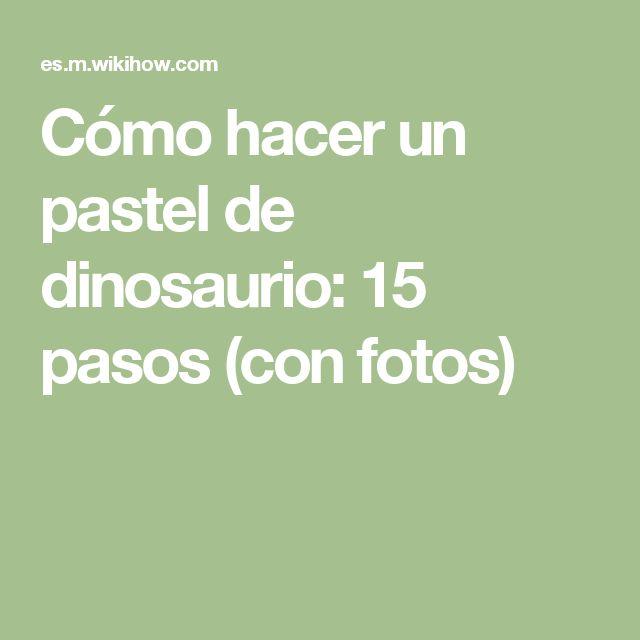 Cómo hacer un pastel de dinosaurio: 15 pasos (con fotos)