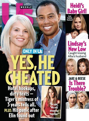 Tiger Woods cheats on his wife with several mistresses