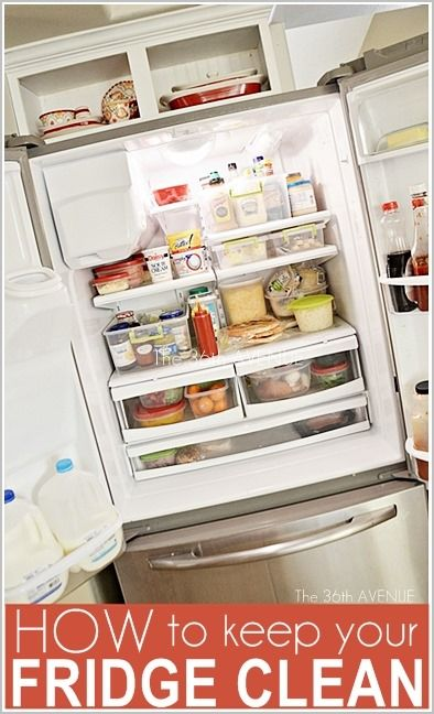 How to clean and keep your fridge CLEAN. Awesome tips and organization ideas!