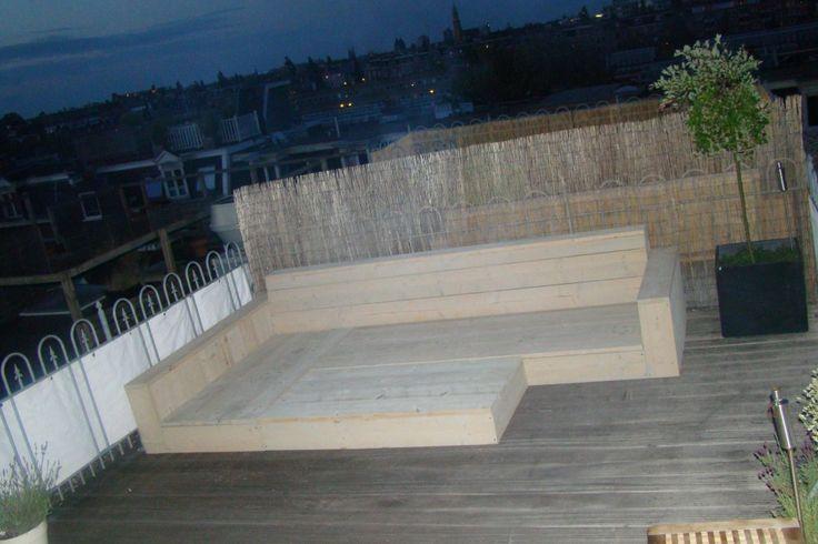 Sabanka, houten loungebank – MeubelMarcker