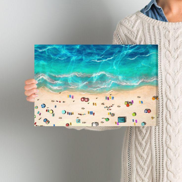 A Day at the Beach Canvas Art