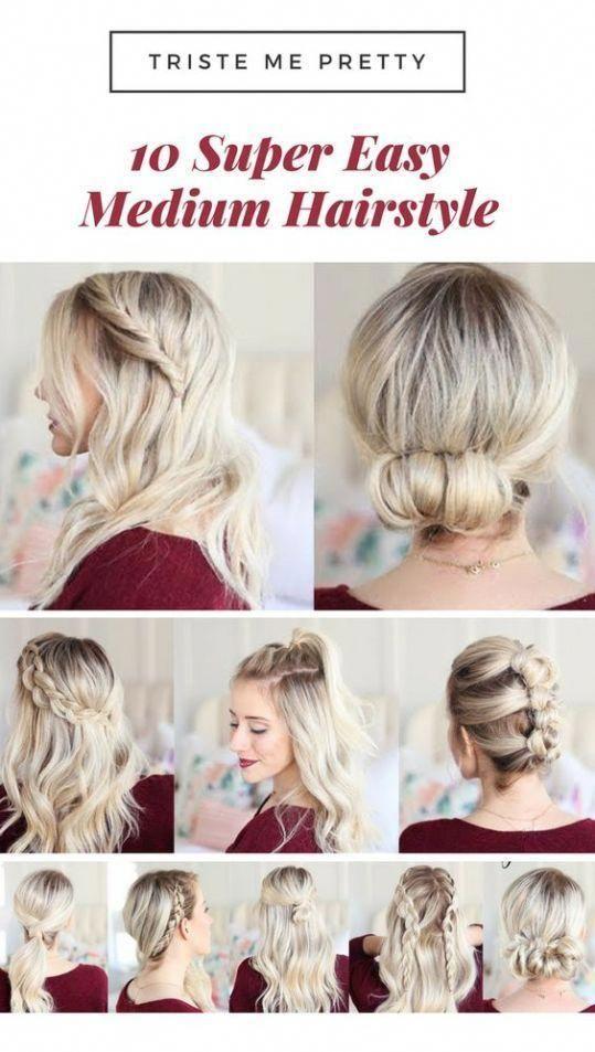 10 Super Einfache Frisuren Fur Schulterlanges Haar Todaywedate Com Einfache Frisuren Schulterlanges Super To Haar Styling Medium Haare Lange Dunne Haare