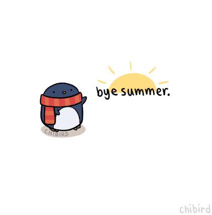 Penguin Waves Bye Bye To Summer.