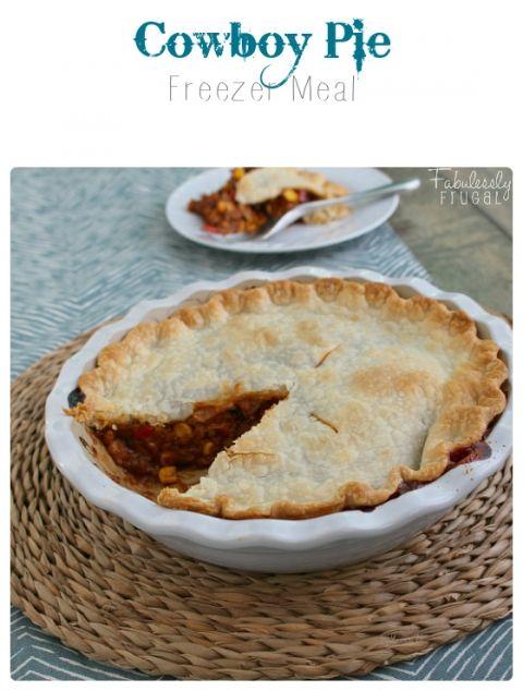 cowboy pie freezer meal