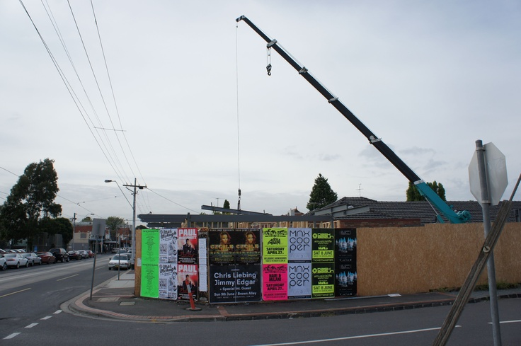 Building Works in Balaclava Road, North Caulfield. (photo by Victor Perton)