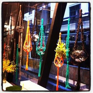 Windows at Myer.  Little Bourke Street, Melbourne  Cleopatra Jones Modern Macrame