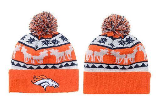 Denver Broncos Winter Outdoor Sports Warm Knit Beanie Hat Pom Pom
