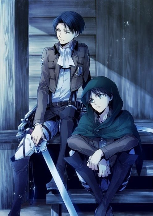 Attack on Titan Levi and Eren