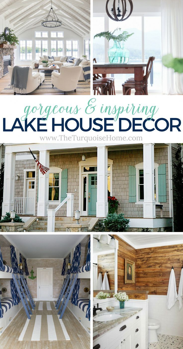 Beautiful Lake House Decor Inspiration The Turquoise Home In 2020 Lake House Interior Country House Decor Small Lake Houses