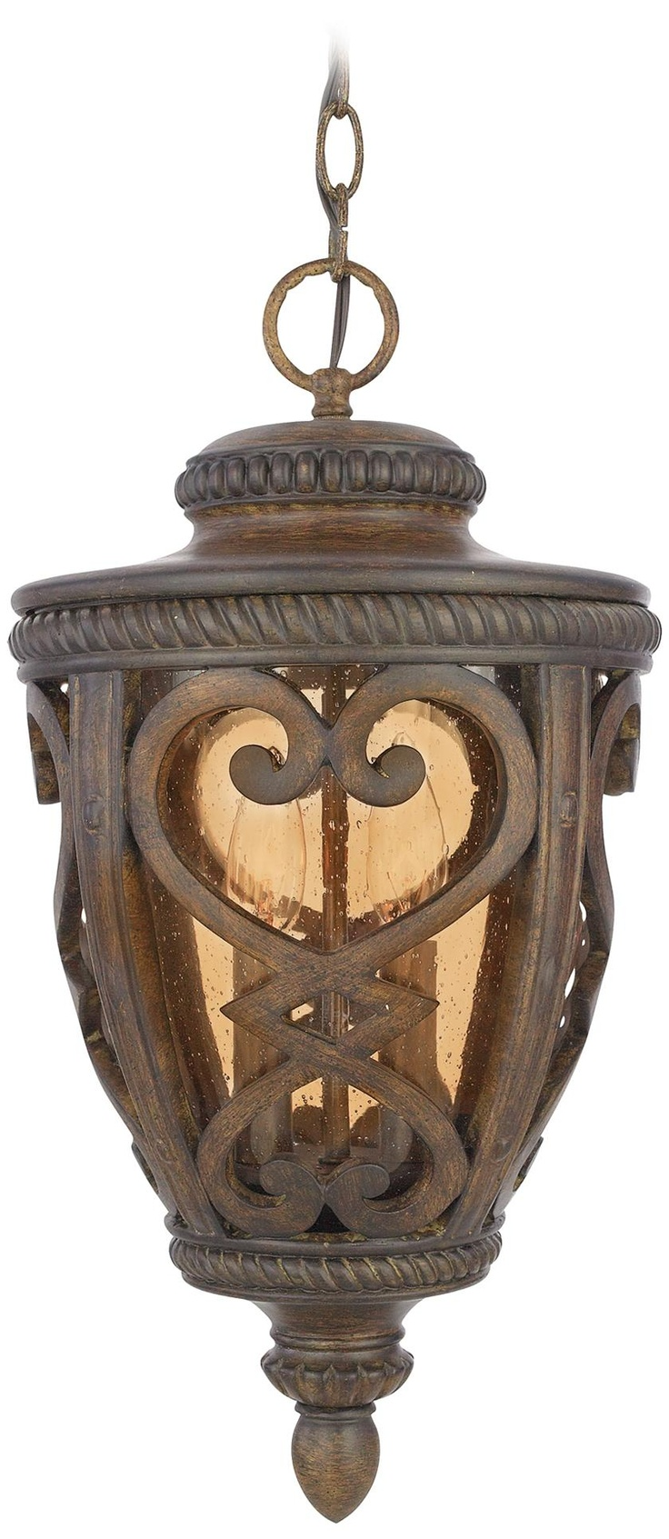 French Quarter Antique Brown 19 High Outdoor Hanging Light 230 Dollars