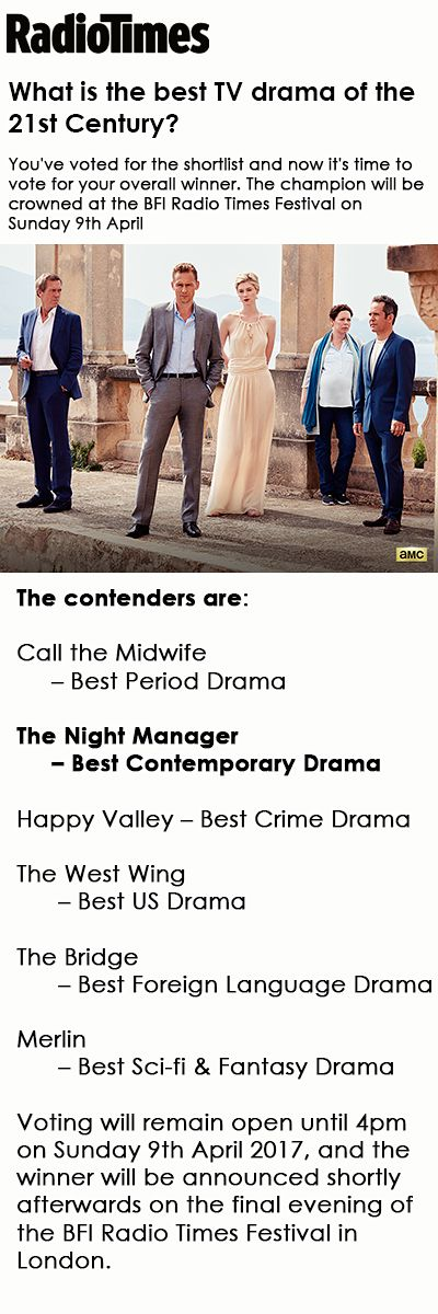 RadioTimes: What is the best TV drama of the 21st Century?. Link: http://www.radiotimes.com/news/2017-04-03/what-is-the-best-tv-drama-of-the-21st-century