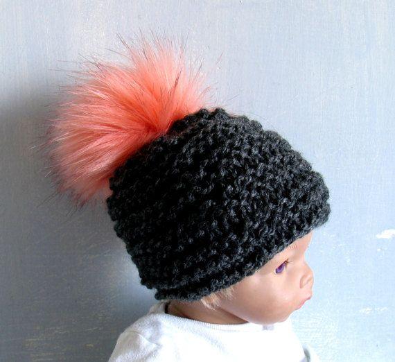 Baby Winter Hat Baby Pom Pom Hat Knit Baby Hat Toque Winter