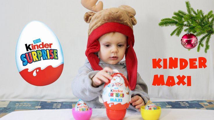 Большие яйца КИНДЕР Сюрприз игрушка из новогодней коллекции KINDER MAXI ...