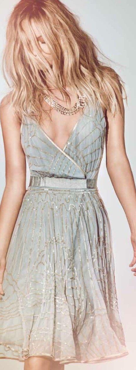 Embellished faux wrap dress- San Remo 2013
