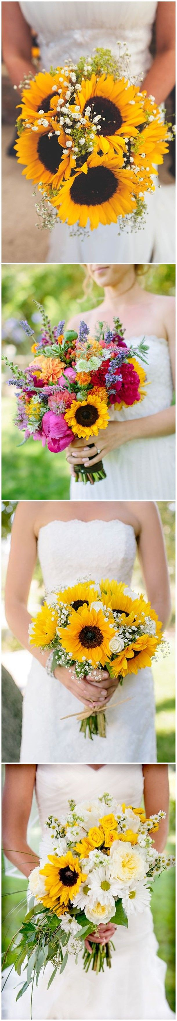 21 Perfect Sunflower Wedding Bouquet Ideas For Summer Wedding