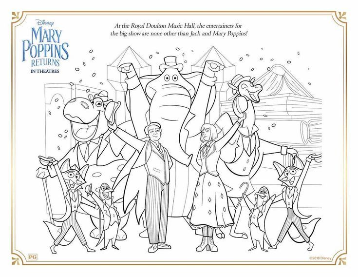 Free Printable Mary Poppins Returns Coloring Activity Sheets Any Tots Coloring Pages Mary Poppins Disney Coloring Pages