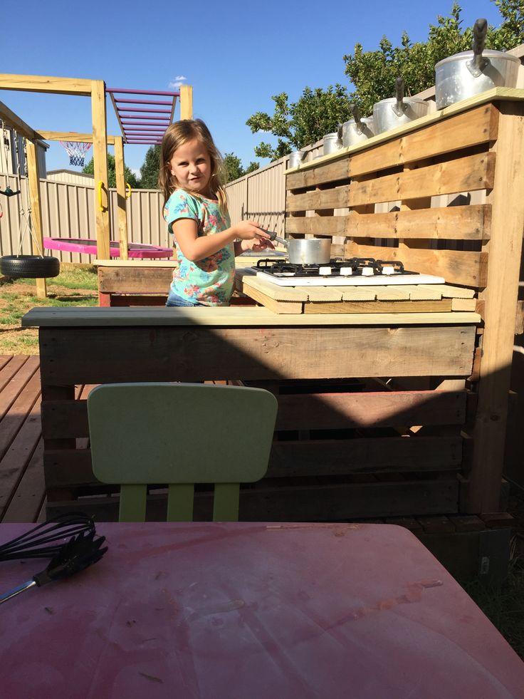 Girls love their Pallet kitchen!