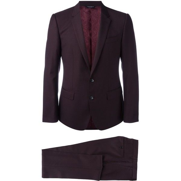 Dolce & Gabbana formal suit (€1.975) ❤ liked on Polyvore featuring men's fashion, men's clothing, men's suits, red, mens formal suits, mens red suit, mens 3 button suits, dolce gabbana mens suits and mens tailored suits