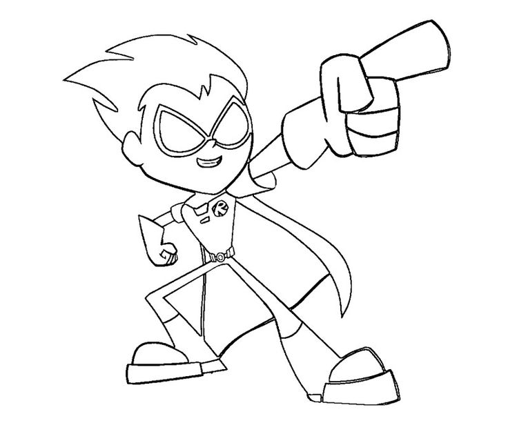 teen titans coloring pages - photo#9
