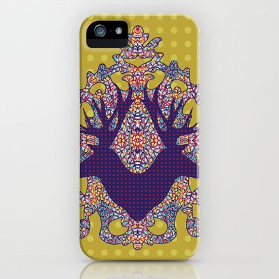 Dancing Leaves : Yellow Antelope iPhone & iPod Case by Geetika Gulia - $35.00