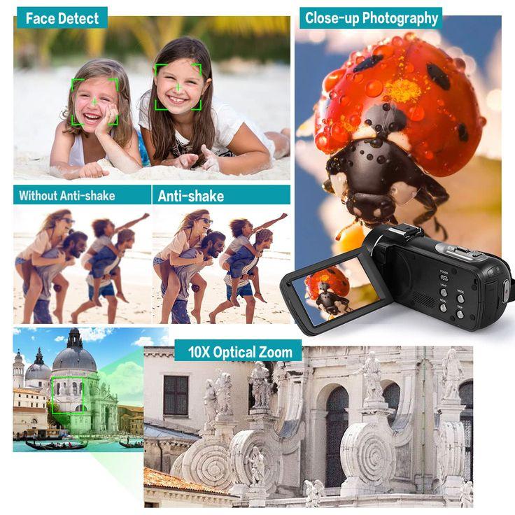 Andoer HDV-Z80 1080P Full HD 24MP Digital Video Sales Online black - Tomtop.com