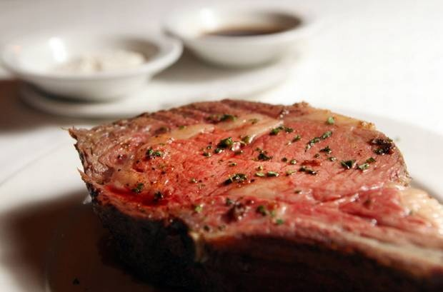 """A massive prime rib is one of the many treats in store at Al Biernat's -- if you're lucky: """"Limited availability"""" says the menu description, in alarming italics."""