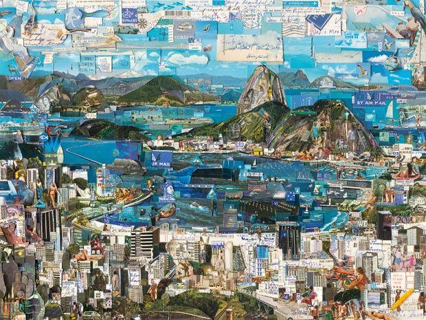 Rio de Janeiro, série Postcards from Nowhere, 2013, fotografia cromogênica digital, de Vik Muniz